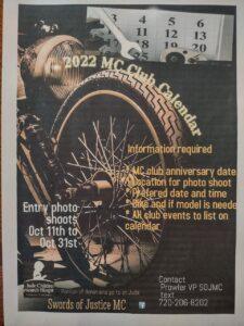 2022 MC Club Calendar registration